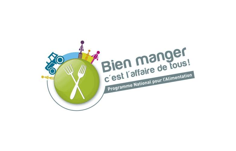 """Logo """"Bien manger c'est l'affaire de tous"""""""