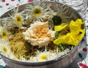 Goûter la cuisine de fleurs